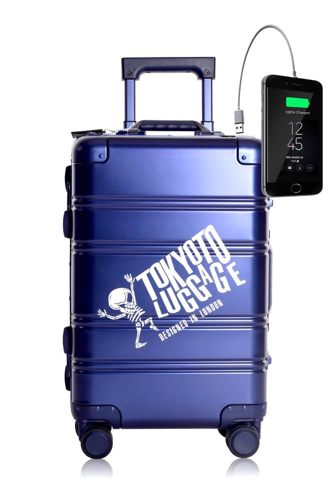 Web BLUE LOGO Maleta de Cabina de Cabina con Cargador para Movil