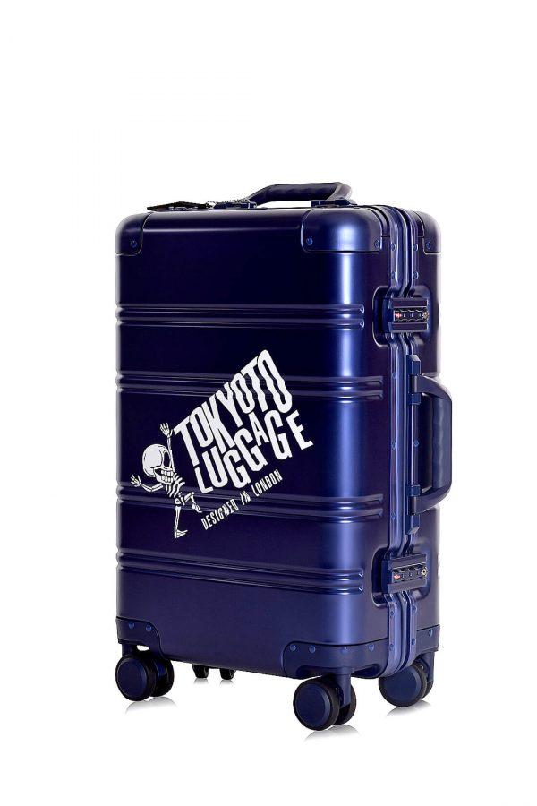 Maleta de Cabina en Aluminio Logo Azul metalizado