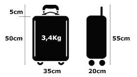 Logo Maletas Aluminio Aceptadas en Cabina 35cm