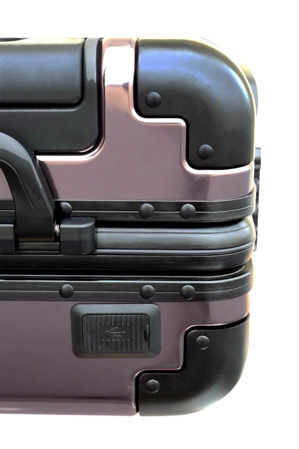 Maleta de Cabina Metalica Aluminio 4 ruedas Rigida Calavera Tokyoto Luggage 1