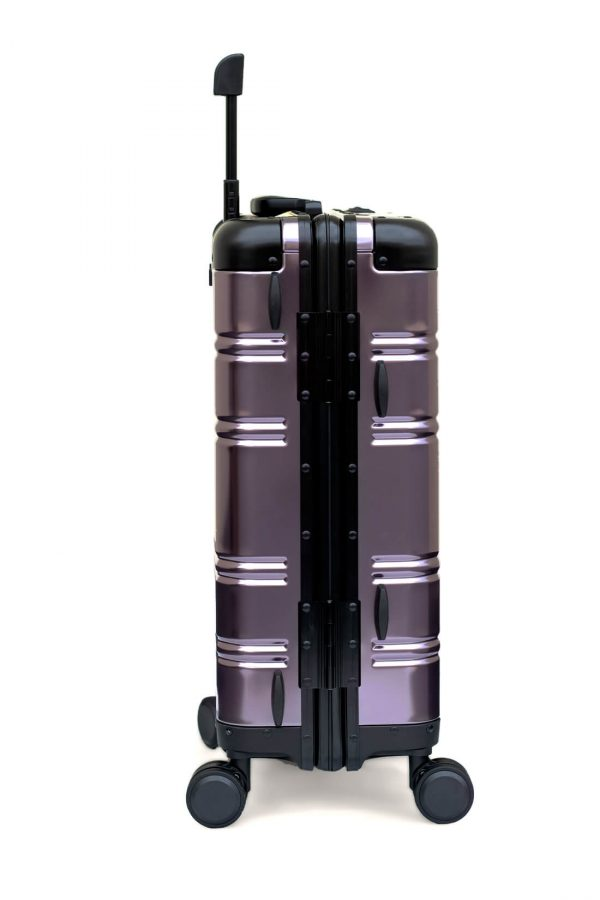 Maleta de Cabina Metalica Aluminio 4 ruedas Rigida Calavera Tokyoto Luggage 3
