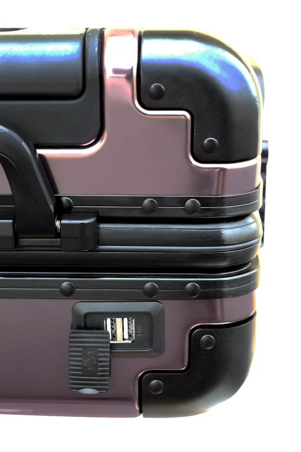 Maleta de Cabina Metalica Aluminio 4 ruedas Rigida Calavera Tokyoto Luggage 4