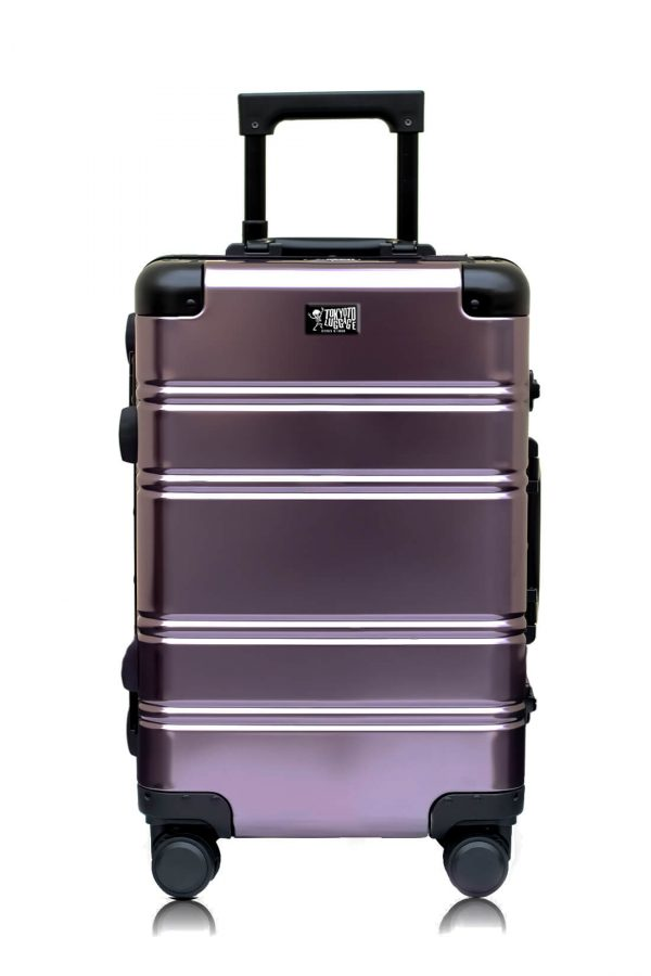 Maleta de Cabina Metalica Aluminio 4 ruedas Rigida Calavera Tokyoto Luggage Suburra 2