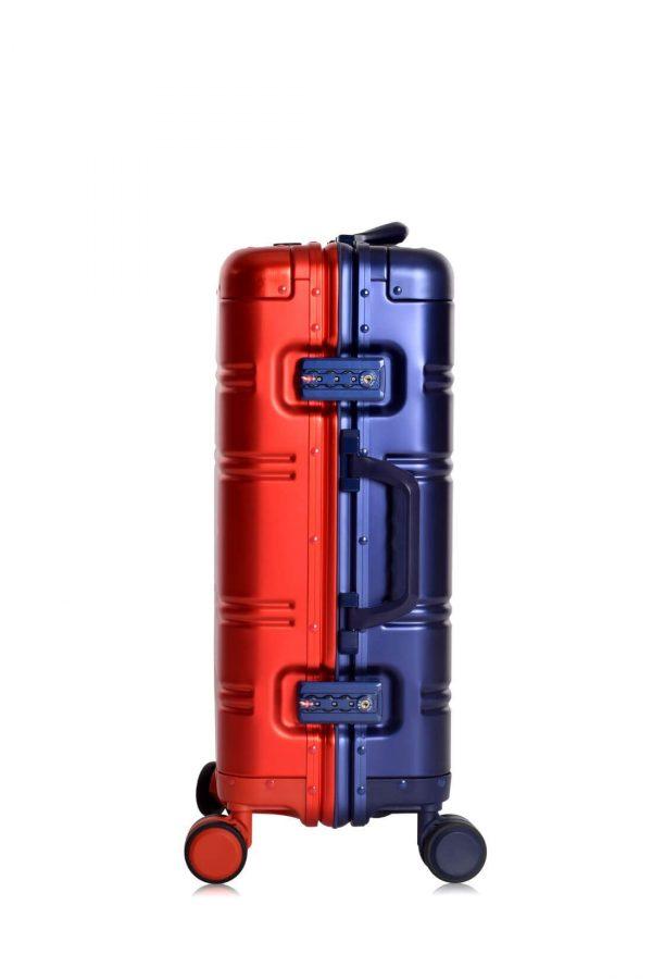 Maleta de Cabina en Aluminio Red Blue Logo Metalizado