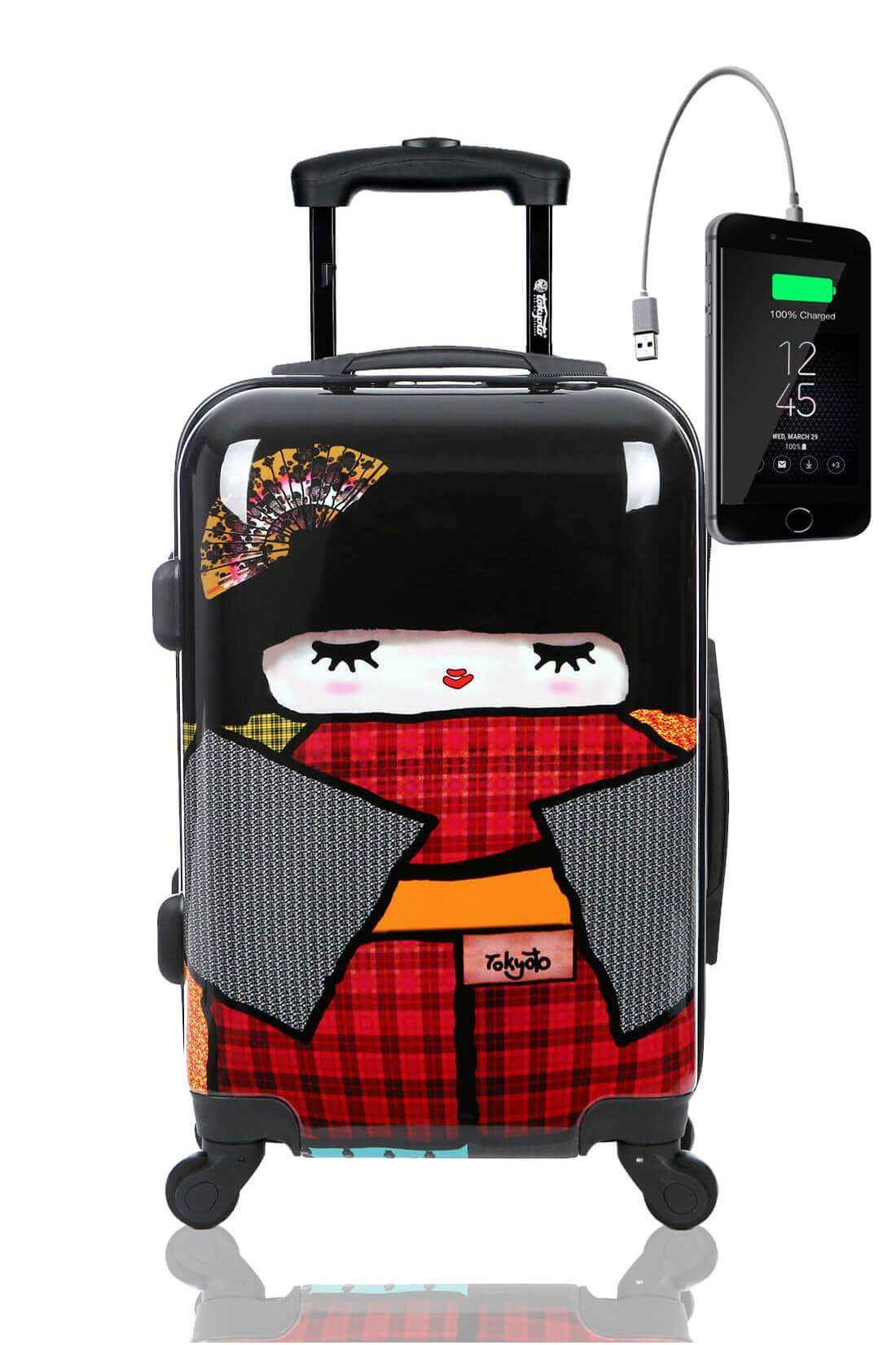 JAPAN DOLL Maleta de Cabina con Cargador para Movil