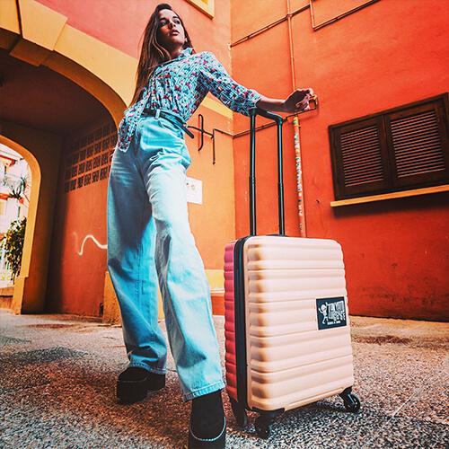 Maleta Beige Tokyoto Luggage MAria Querol (1)